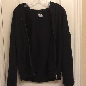black fleece nike jacket